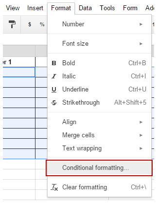 Color Alternate Rows in Google Sheets - Data Conditional Formatting