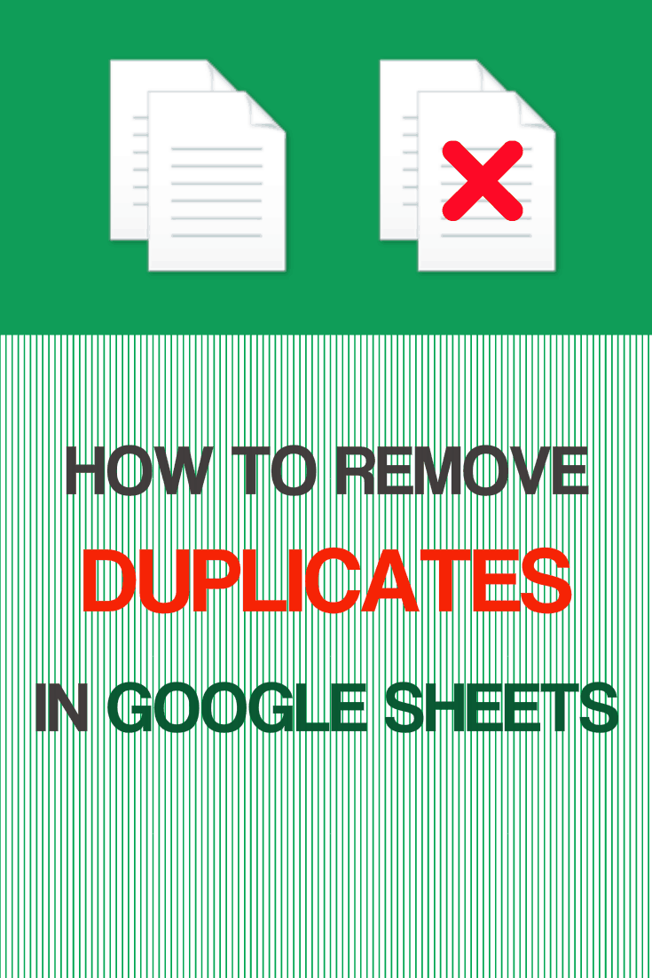 how to delete duplicates in google sheets