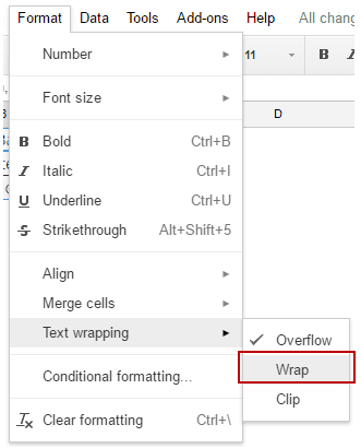 How to Wrap Text in Google Sheets - wrap text