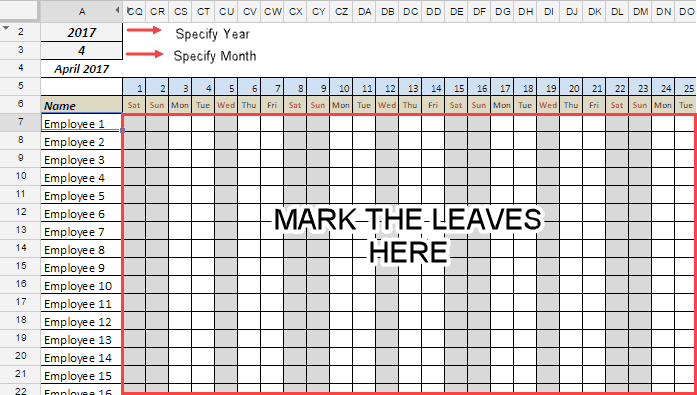 free employee student leave tracker template in google sheets for