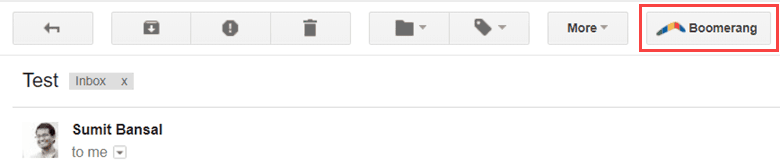 Boomerang for Gmail - Schedule to resurface later