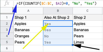 IF formula to compare columns to search for missing data