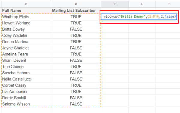 Formula to fetch the value for full name
