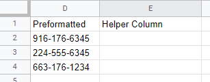 Helper column