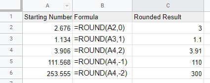 Round to the nearest decimal