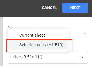 Selected Cells