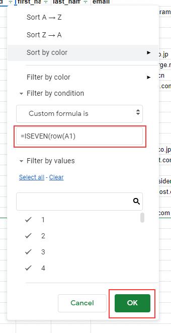 Enter the ISEVEN formula