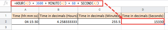 Converting Time to Number of Seconds