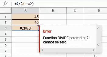 DIV Error
