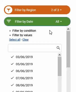 Filter Menu for Date Slicer