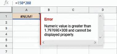 NUM Error because of large number