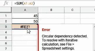 REF Error because of circular reference