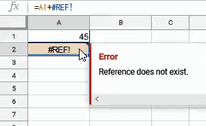 REF error when a cell used in formula in deleted