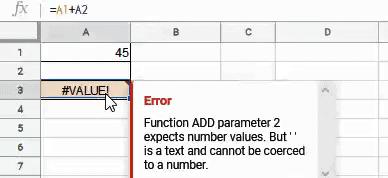 Value error as cell has text