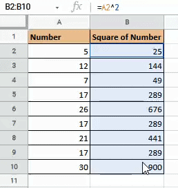 Select the cells where you want to convert formulas to values