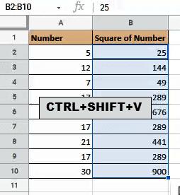 Shortcut to convert formula to values