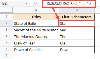 Extract first 3 characters