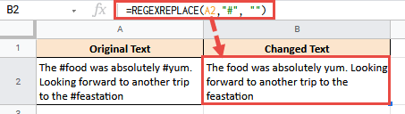 RegexReplace to Remove Hash from Text