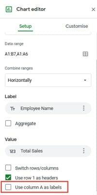 adding labels google sheets