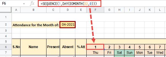 attendance tracker google sheets
