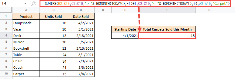 google sheets sumif date