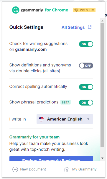 Grammarly's premium version helps writers improve the correctness, clarity, delivery, and engagement of their writing.