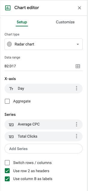 radar chart editor