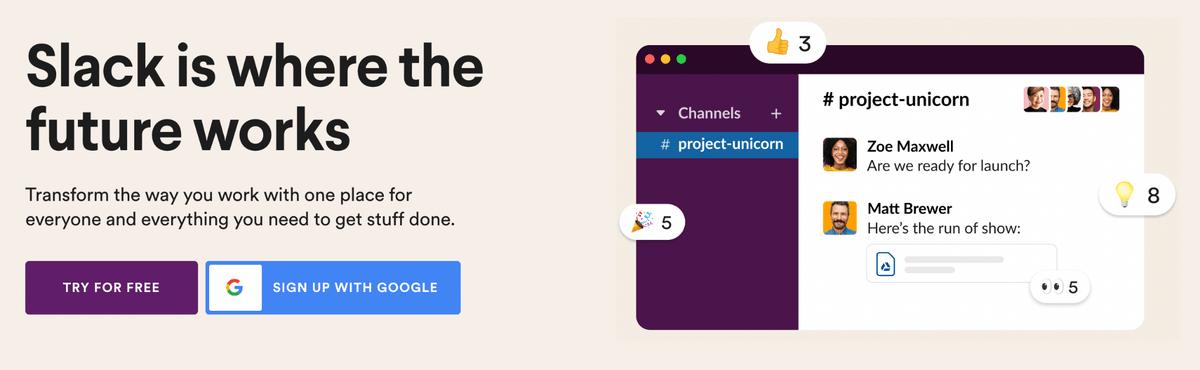 slack remote communication tool