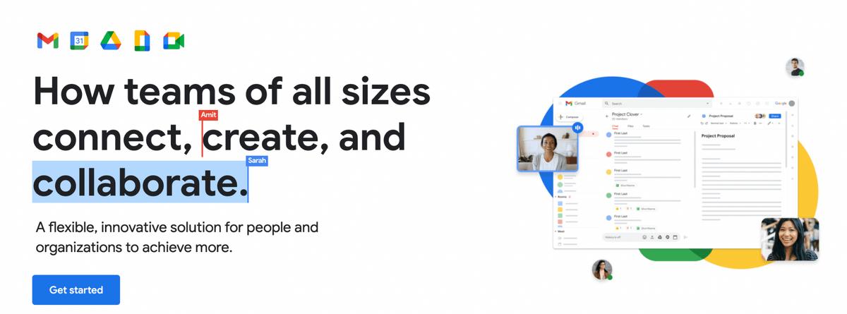 Google suite communication tools