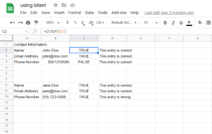 How to Use the ISTEXT Function in Google Sheets