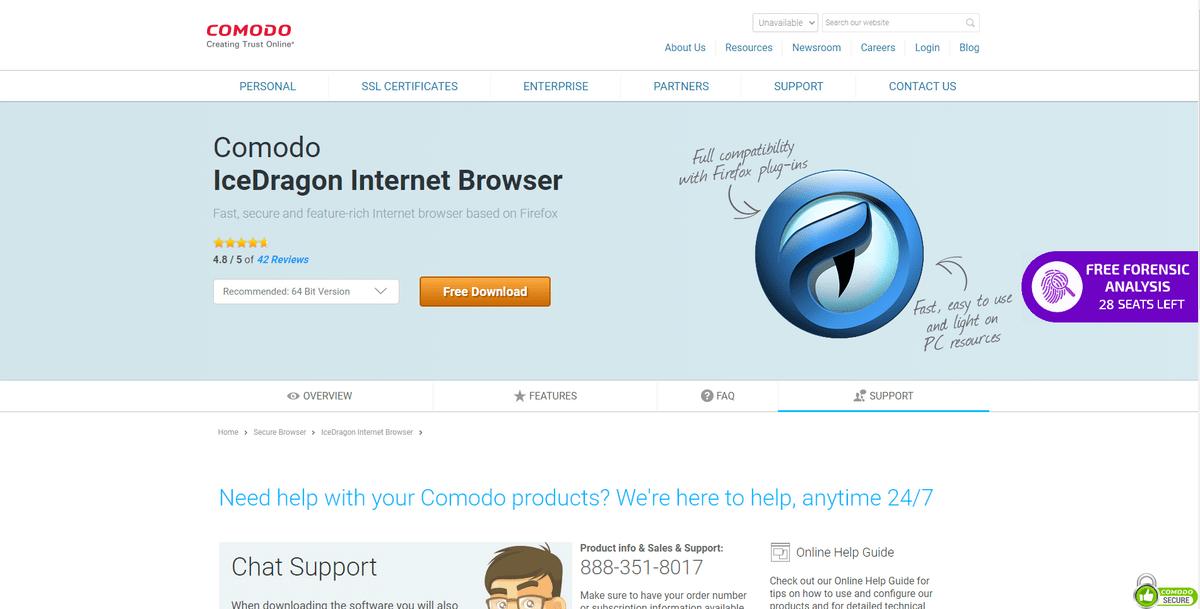 Comodo ICE Dragon Browser