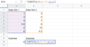 Easy Guide to the SUBTOTAL Function in Google Sheets