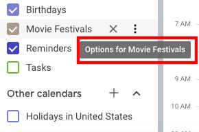 Options for movie festivals
