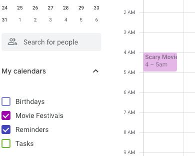 Purple google calendar