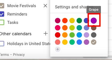 Choose a google calendar color scheme